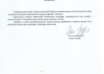 Oliwska Grupa Konsultingowa Sp zoo Referencje