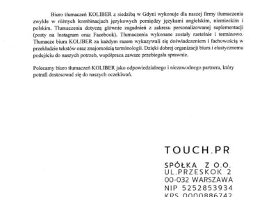 Touch PR Referencje